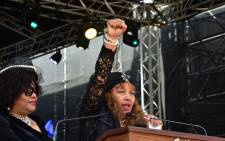 Zenani Mandela-Dlamini gives a speech at Winnie Madikizela-Mandela's funeral on 14 April 2018. Picture: SA Government News