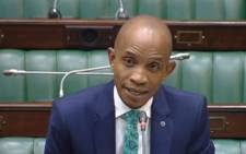 A screengrab shows deputy public protector candidate Buang Jones in Parliament during his interview on 12 November 2019. Picture: SABC Digital News/youtube.com
