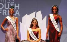 Miss South Africa 2014 Rolene Strauss with first princess Ziphozakhe Zokufa and second princess Matlala Mokoko. Picture:Supplied.