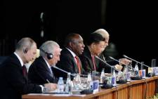 President Cyril Ramaphosa chairing the BRICS Africa Outreach and BRICS Plus interactive dialogue at the 10th BRICS Summit held at the Sandton International Convention Centre in Johannesburg. Picture: Dirco.