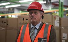 Minister of Trade and Industry Rob Davies during his visit to the HiSense factory in Atlantis where a R12-million investment in TV manufacturing at the factory was announced. Picture: Cindy Archillies/EWN