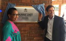 Gauteng Health MEC Qedani Mahlangu together with Mark Lubner from the Smile Foundation launch the burns unit at the Dr George Mukhari Hospital. Picture: @GautengHealth.