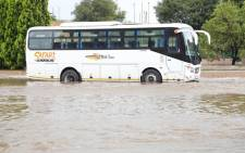 A bus seen in Centurion during flooding on 9 December 2019. Picture: Abigail Javier/EWN.