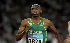 South African middle distance runner, and the 2009 world champion in the men's 800 metres Mbulaeni Mulaudzi. Picture: Twitter @beningfield.