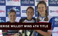 South Africa's, Cherise Willeit was the top female finisher. She snagged her 4th title win in her 19th Cape Town Cycle Tour. Picture: Bertram Malgas