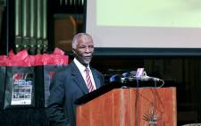 FILE: Former President Thabo Mbeki speaking during the Road to Democracy in South Africa Volume 5 and 6 book launch held at UNISA Pretoria. Picture: GCIS.