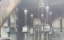 The Rynfield substation in Ekurhuleni exploded this morning along 2 other mini substations at around the same time.Picture: Ziyanda Ngcobo/EWN