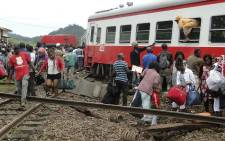 FILE: At least 70 people were killed and over 600 injured when a packed Cameroon passenger train derailed on 21 October, 2016 while travelling between the capital Yaounde and the economic hub Douala, state broadcaster Crtv said. Picture: AFP.