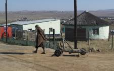 A young boy pulling a trolley in Qunu, the homestead of former president Nelson Mandela, in the Eastern Cape. Picture:Renée de Villiers/EWN