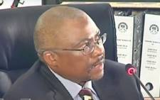 A screengrab of former Transnet CEO Siyabonga Gama giving evidence at the state capture inquiry on 11 March 2021. Picture: SABC/YouTube