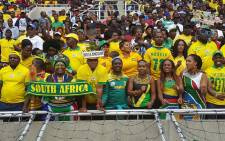 Fans celebrate after Bafana Bafana won a 2-1 win against Senegal in their 2018 World Cup Qualifier in Polokwane on Saturday. Picture: Twitter @BafanaBafana
