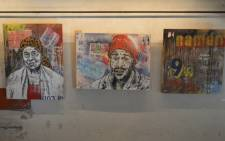 Some of the contemporary artwork displayed as part of a month long exhibition at the Basha Uhuru Youth Festival. Picture:Supplied