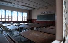 The inside of an empty classroom.Picture: Reinart Toerien/EWN