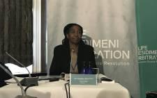 Dianne Noyile testifies during the Life Esidimeni arbitration hearings on 19 October 2017. Picture: Masego Rahlaga/EWN