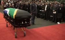 Ladysmith Black Mambazo founder Joseph Shabalala has been honoured with a category 2 funeral in his hometown of Ladysmith on 22 February 2020. Picture: Xanderleigh Dookey/EWN
