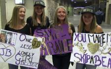 A few die hard Justin Bieber fans showing their love for the Canadian superstar during his tour in South Africa at the FNB stadium on 13 May 2013. Picture Reinart Toerien.