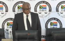 Joburg Mayor Geoff Makhubo appearing at the state capture commission on 17 May 2021. Picture: YouTube screengrab/SABC.