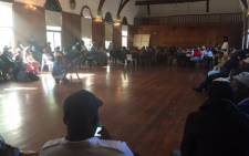 University of Cape Town students at Hiddingh campus discussing the issues they face at campus. Picture: Monique Mortlock/EWN.