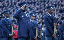 FILE: Police officers commemorating almost 60 of their deceased colleagues in September 2015. Picture: Reinart Toerien/EWN