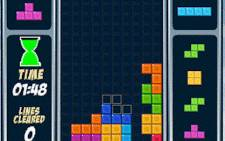 A screenshot of a Tetris game.