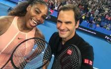 Roger Federer and Serena Williams pose after their Hopman Cup match. Picture: @Rogerfederer/Twitter