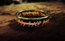 One ring to rule them all: A prop from the 'Lord of the Rings' movie. Picture: @JeffBezos/Twitter