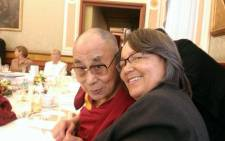 Mayor of Cape Town Patricia de Lille with tTibetan spritual leader the Dalai Lama at the 14th World Summit of Nobel Peace Laureates in Rome. Picture: Twitter via ‏@PatriciaDeLille.
