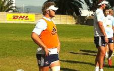 Stormers loose forward Duane Vermeulen trains with his side at Bellville. Picture: Rafiq Wagiet/EWN
