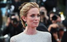 British actress Emily Blunt arrives for the screening of the film 'Sicario' at the 68th Cannes Film Festival in Cannes on May 19, 2015. Picture: AFP.