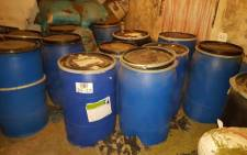 Police raided the Delft home yesterday, and confiscated 1200 kilograms of dagga. Picture: Twitter @SAPoliceService