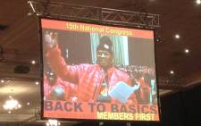 FILE: David Sipunzi addressed NUM delegates at the union's elective congress. Picture: Govan Whittles/EWN.
