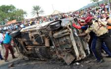 FILE: Site of a blast in Nyanya bus station in Nigeria. Picture: AFP.