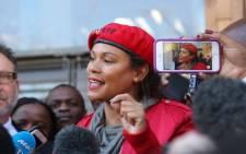 EFF treasurer-general Leigh-Ann Mathys.  Picture: Christa Eybers/EWN