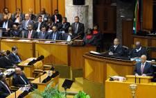 Budget speech inside Parliament
