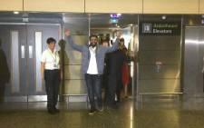 Irish student Ibrahim Halawa at Dublin Airport. Picture: @freehalawa/Twitter.