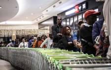 Checkers Hyper's 'Black Friday' sale in Sandton City. Picture: Abigail Javier/EWN
