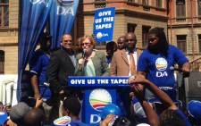 DA leader Helen Zille addresses the media outside the North Gauteng High Court in Pretoria on 4 September, 2014. Picture: Vumani Mkhize/EWN.