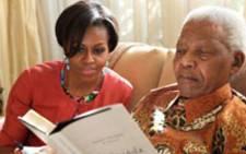 Michelle Obama with Tata.