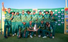 The Proteas ODI team celebrate a series victory over Bangladesh on 22 October 2017 at Buffalo Park in East London, South Africa. Picture: @OfficialCSA/Twitter