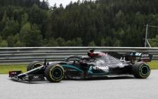 Mercedes driver Lewis Hamilton steers his car during the second practice session at the Austrian Formula One Grand Prix on 3 July 2020 in Spielberg, Austria. Picture: AFP