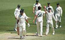 Mitchell Starc in Perth where the Kiwis were dismissed for only 166 in their first innings. Picture: Twitter/ICC