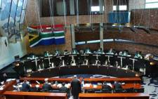 Advocates and Constitutional Court justices sit in the country's highest court