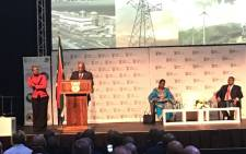 President Jacob Zuma addresses the energy indaba in Midrand on 7 December 2017. Picture: GCIS.
