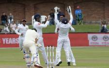 South Africa bowled out for 128 (44.3 Ovs) Suranga Lakmal bagged 4/39 while Dhananjaya  with 3/36, Rajitha with 2/20. Picture: Twitter @OfficialSLC.
