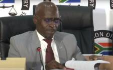 A screengrab of former Cabinet minister Malusi Gigaba appearing at the state capture inquiry on 21 May 2021. Picture: SABC/YouTube