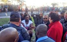 Kayamandi residents marched to Stellenbosch municipality on Thursday 21 June 2018 demanding that the mayor, area manager and local councillor be removed. Picture: Twitter/ @StellMun