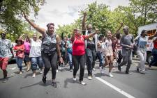 FILE: Students from the Stellenbosch SRC protest on 17 November 2015 to highlight their grievances at the university. Picture: Aletta Harrison/EWN