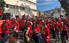 FILE: Saftu members march to Parliament in Cape Town in 2018. Picture: EWN.