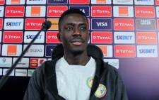 Senegal's midfielder Idrissa Gueye attends a press conference in the capital Cairo, on 7 July 2019, on the eve of the 2019 Africa Cup of Nations Round of 16 football match between Uganda and Senegal. Picture: AFP.