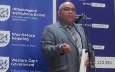 Western Cape Community Safety MEC Albert Fritz. Picture: @AlbertFritz_DA/Twitter